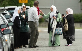 Muslim Women talking